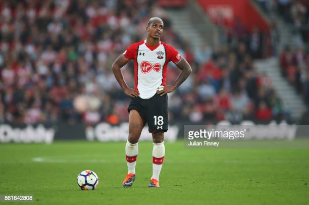 Mario Lemina of Southampton prepars to take a free kick during the Premier League match between Southampton and Newcastle United at St Mary's Stadium...