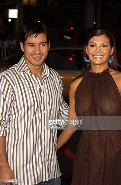Mario Lopez Ali Landry during White Oleander Premiere at Mann Chinese Theater in Hollywood California United States