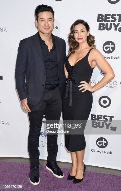 Mario Lopez and Courtney Laine Mazza arrive at the Eva Longoria Foundation Dinner Gala at Four Seasons Hotel Los Angeles at Beverly Hills on November...