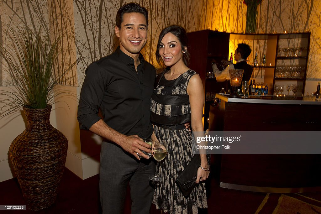Mario Lopez (L) and Courtney Laine Mazza celebrate their favorite destination at the LA premiere of 'Mexico: The Royal Tour' at JW Marriott Los Angeles at L.A. LIVE on September 21, 2011 in Los Angeles, California.
