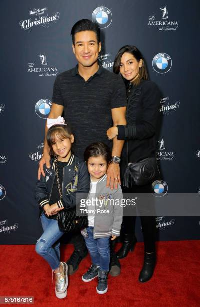 Mario Lopez and Courtney Lopez at Derek Hough Hosts The Americana at Brand Tree Lighting Presented By BMW on November 16 in Glendale California on...