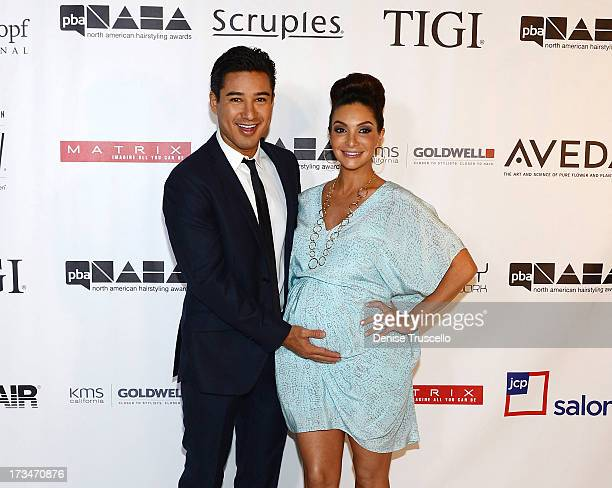 Mario Lopez and Courtney Mazza arrive at 2013 North American Hairstyling Awards at Mandalay Bay on July 14 2013 in Las Vegas Nevada