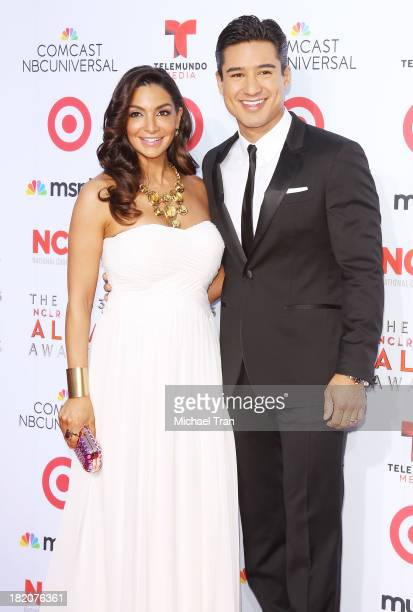 Mario Lopez and Courtney Mazza arrives at the 2013 NCLR ALMA Awards held at Pasadena Civic Auditorium on September 27 2013 in Pasadena California