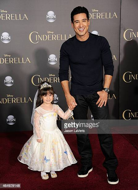 "Mario Lopez and daughter Gia Francesca Lopez attend the premiere of ""Cinderella"" at the El Capitan Theatre on March 1, 2015 in Hollywood, California."