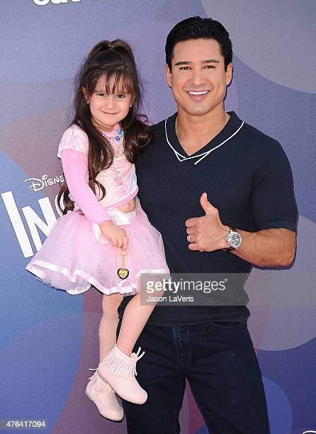 "Mario Lopez and daughter Gia Francesca Lopez attend the premiere of ""Inside Out"" at the El Capitan Theatre on June 8, 2015 in Hollywood, California."