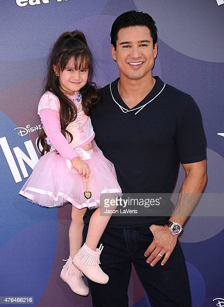 Mario Lopez and daughter Gia Francesca Lopez attend the premiere of Inside Out at the El Capitan Theatre on June 8 2015 in Hollywood California
