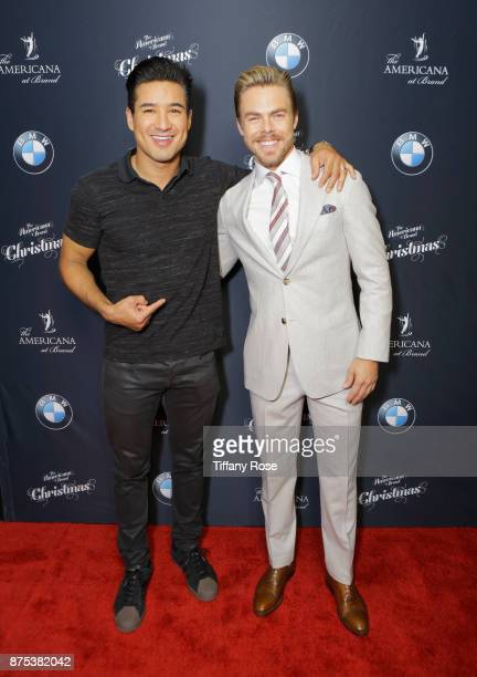 Mario Lopez and Derek Hough at Derek Hough Hosts The Americana at Brand Tree Lighting Presented By BMW on November 16 in Glendale California on...