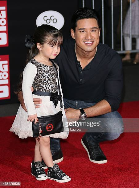"Mario Lopez and Gia Francesca Lopez attend the Disney's ""Big Hero 6"" Los Angeles Premiere held at the El Capitain Theater on November 4, 2014 in..."