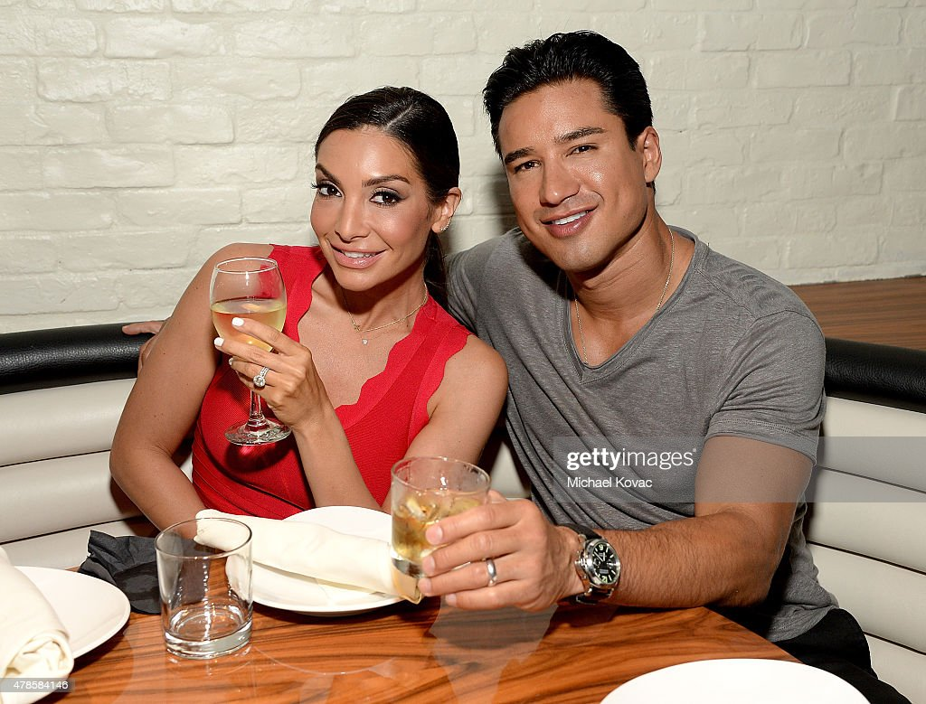Mario Lopez (R) and his wife Courtney Mazza attend the W Los Angeles - West Beverly Hills and STK Los Angeles Reveal Event at W Los Angeles - Westwood on June 25, 2015 in Los Angeles, California.
