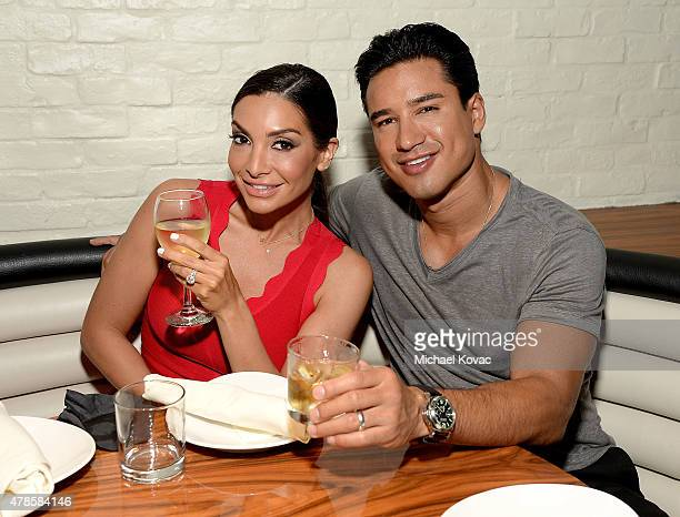 Mario Lopez and his wife Courtney Mazza attend the W Los Angeles West Beverly Hills and STK Los Angeles Reveal Event at W Los Angeles Westwood on...