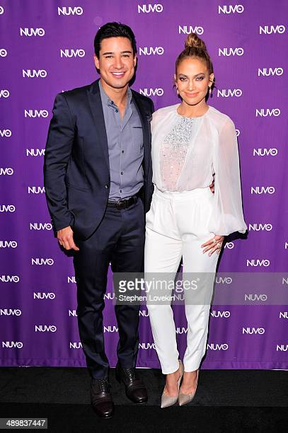 Mario Lopez and Jennifer Lopez attend NUVOtv's 20142015 upfront at The Edison Ballroom on May 12 2014 in New York City