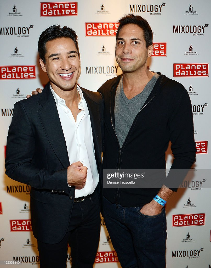 Mario Lopez and Joe Francis arrive at the Have A Heart benefit for organ donor recipients and their families at Mixology LA at the Farmers Market on February 21, 2013 in Los Angeles, California.