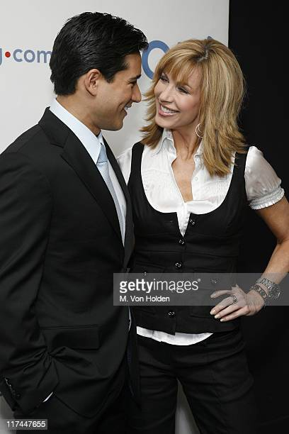 Mario Lopez and Leeza Gibbons during Celebrities Unveil AOL's Entertainment Programming Slate for 2007-2008 - April 17, 2007 at Time Warner Center -...