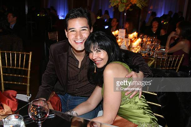 Mario Lopez and Maria Conchita Alonzo during Hennessy Dinner to Announce the 2006 Alma Awards Hosted by Eva Longoria at Park Plaza Hotel in Los...