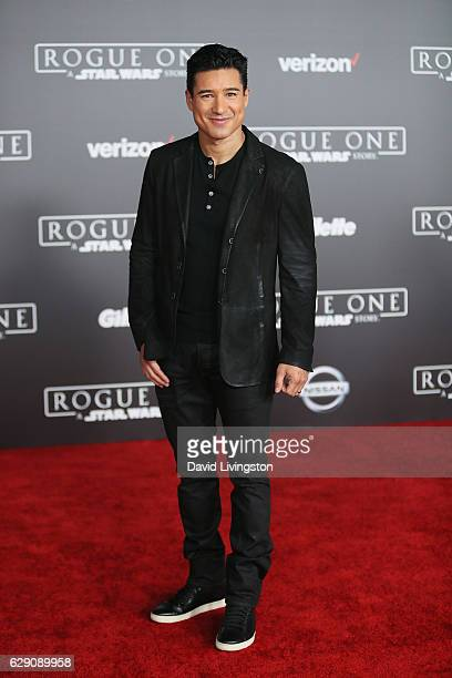 Mario Lopez arrives at the premiere of Walt Disney Pictures and Lucasfilm's 'Rogue One A Star Wars Story' at the Pantages Theatre on December 10 2016...