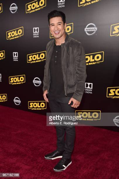 "Mario Lopez attend the world premiere of ""Solo A Star Wars Story"" in Hollywood on May 10 2018"