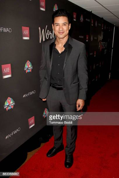 Mario Lopez attends the AHF World AIDS DAY Concert and 30th Anniversary Celebration at the Shrine Auditorium on November 30 2017 in Los Angeles...