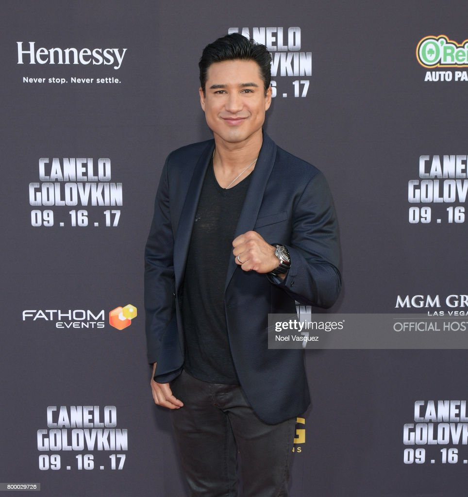 "Mario Lopez attends the Canelo Alvarez and Gennady ""GGG"" Golovkin press tour presented by Hennessy at AVALON Hollywood on June 22, 2017 in Los Angeles, California. Hennessy, the world's best-selling Cognac, recently announced its partnership with Canelo who, like Hennessy, has a passion for pushing the limits of potential to Never stop. Never settle."