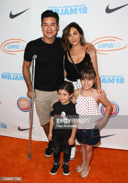 Mario Lopez, Courtney Laine Mazza, Dominic Lopez and Gia Francesca Lopez attend the 2nd annual MBJAM18 presented by Michael B. Jordan and Lupus LA at...