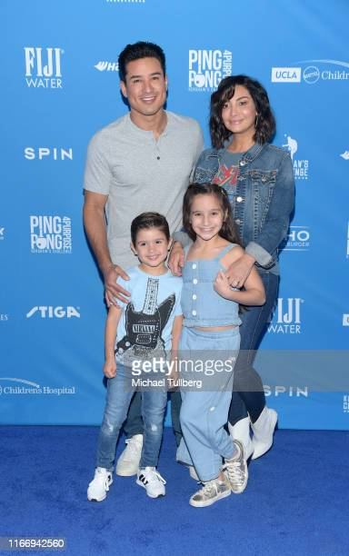 Mario Lopez, Courtney Laine Mazza, Gia Francesca Lopez and Dominic Lopez attend the 7th annual Ping Pong 4 Purpose celebrity tournament fundraiser at...