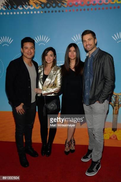Mario Lopez Courtney Lopez Roselyn Sanchez and Eric Winter attend Cirque du Soleil presents the Los Angeles premiere event of 'Luzia' at Dodger...