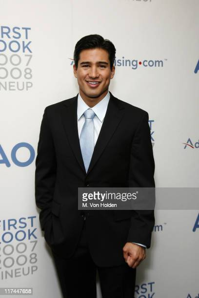 Mario Lopez during Celebrities Unveil AOL's Entertainment Programming Slate for 2007-2008 - April 17, 2007 at Time Warner Center - Jazz at Lincoln...