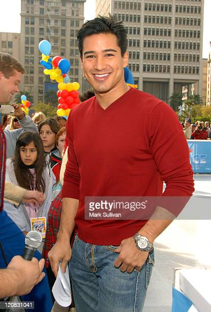 Mario Lopez during Disney on Ice Celebrates 'Yes to Health and Fitness' at Pershing Square Ice Rink in Los Angeles California United States