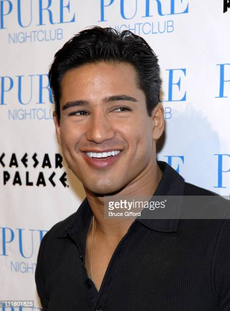 Mario Lopez during Jessica Simpson Dolls Up to Celebrate 2nd Anniversary of the Pussycat Dolls Lounge at Pure Nightclub in Las Vegas Nevada United...