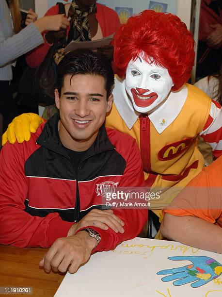 Mario Lopez during Sarah Ferguson and the Finalists of Dancing With the Stars Visit the Ronald McDonald House to Celebrate World Children's Day at...