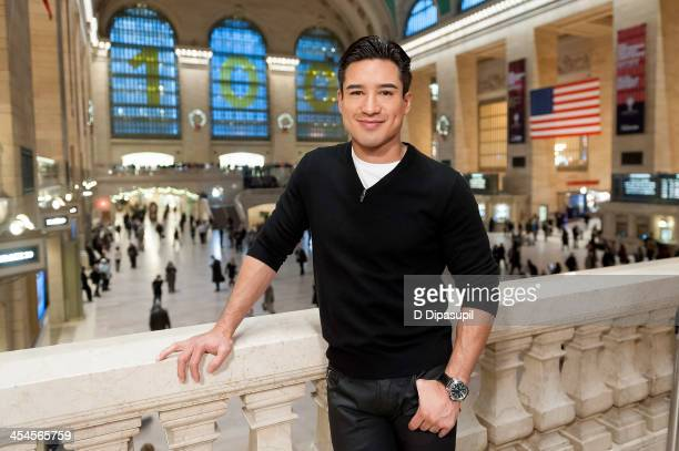 Mario Lopez hosts 'Extra' at Michael Jordan's The Steak House NYC in Grand Central Terminal on December 9 2013 in New York City
