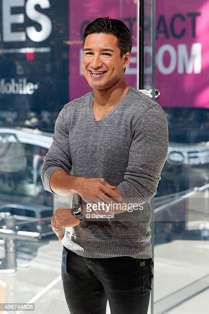 Mario Lopez hosts Extra at their New York studios at HM in Times Square on October 6 2014 in New York City