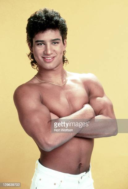 Mario Lopez in a private photo shoot at Ron Wolfson's Studio on June 1990 in Studio City CA