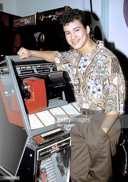 Mario Lopez on the set of Saved By The Bell on November 7 1990 in Burbank CA