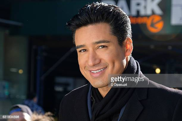 Mario Lopez tapes Extra in Times Square on January 16 2017 in New York City