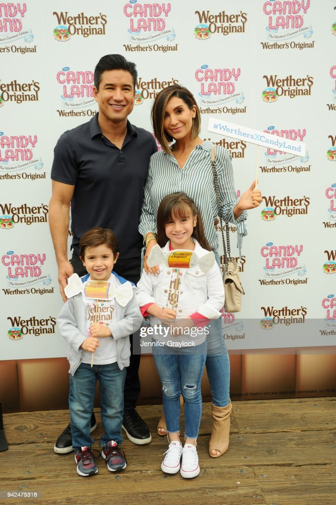 Mario Lopez With His Wife Courtney And Children Gia And Dominic