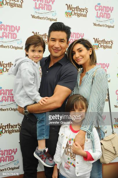 Mario Lopez with his wife Courtney and children Gia and Dominic celebrated National Caramel Day with Werther's Original at Santa Monica Pier on April...