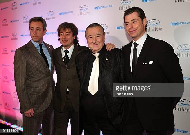 Mario Maccioni Marco Maccioni Sirio Maccioni and Mauro Maccioni attend HBO Documentary's premiere of Le Cirque A Table in Heaven at Le Cirque on...