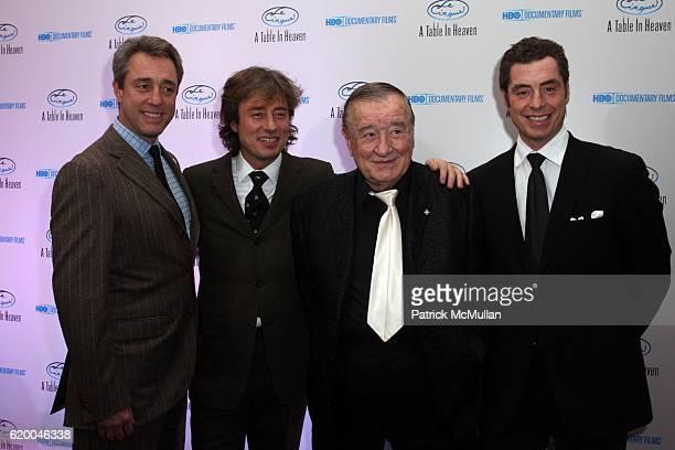 Mario Maccioni Marco Maccioni Sirio Maccioni and Mauro Maccioni attend Premiere of the HBO Documentary LE CIRQUE A TABLE IN HEAVEN at Le Cirque on...