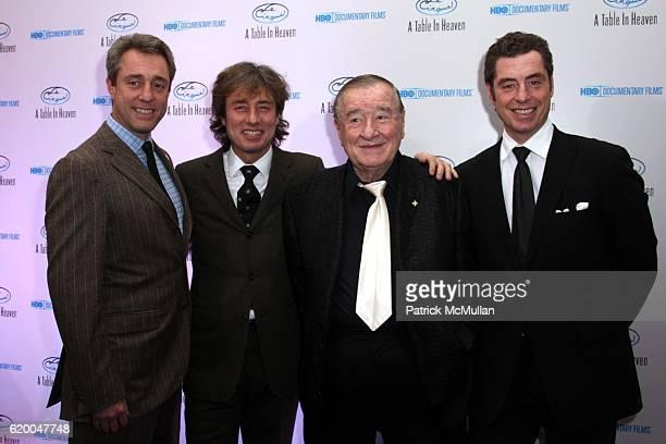 Mario Maccioni Marco Maccioni Sirio Maccioni and Mauro Maccioni attend Premiere of the HBO Documentary LE CIRQUE A TABLE IN HEAVEN at LeCirque on...
