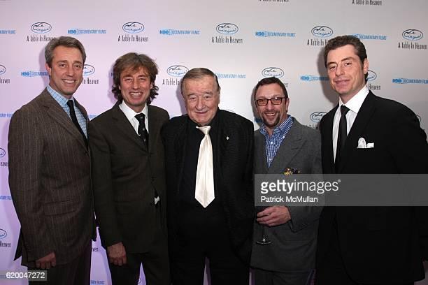 Mario Maccioni Marco Maccioni Sirio Maccioni Peter Elliot and Mauro Maccioni attend Premiere of the HBO Documentary LE CIRQUE A TABLE IN HEAVEN at Le...