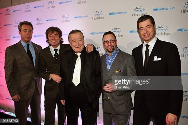 Mario Maccioni Marco Maccioni Sirio Maccioni Peter Elliot and Mauro Maccioni attend HBO Documentary's premiere of Le Cirque A Table in Heaven at Le...