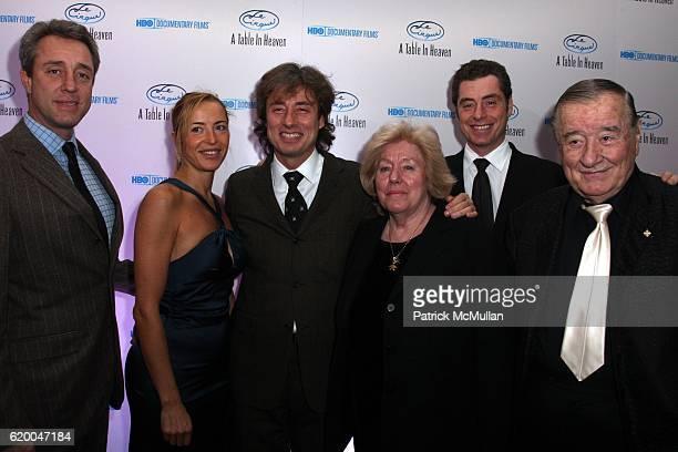 Mario Maccioni Sabrina Wender Marco Maccioni Egidiana Maccioni Mauro Maccioni and Sirio Maccioni attend Premiere of the HBO Documentary LE CIRQUE A...