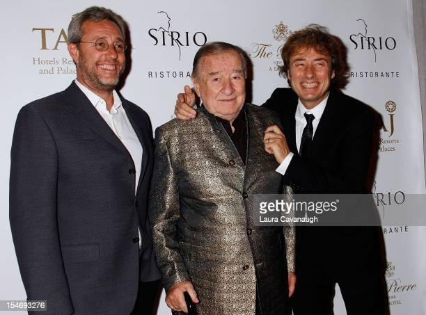 Mario Maccioni Sirio Maccioni and Marco Maccioni attend Sirio Ristorante Grand Opening at The Pierre Hotel on October 24 2012 in New York City