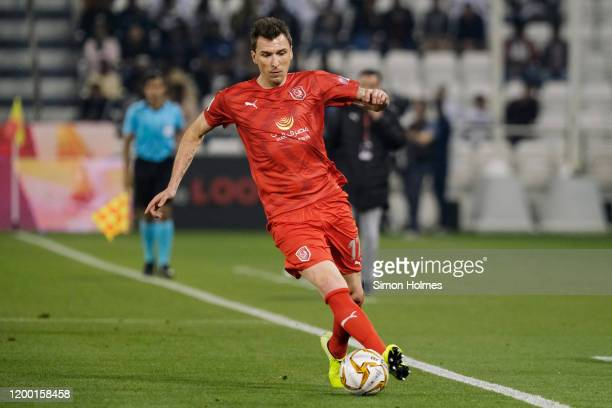 Mario Mandžukić of Al Duhail in action during the Qatar Cup final against Al Sadd at Jassim Bin Hamad Stadium on January 17, 2020 in Doha, Qatar.