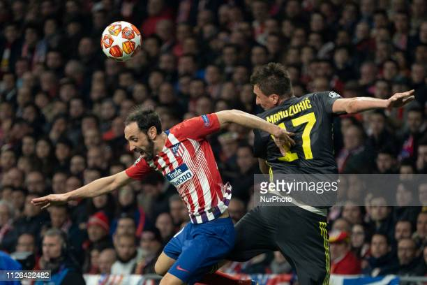 Mario Mandukic of Juventus during UEFA Champions League round of 16 soccer match between Atletico Madrid and Juventus at Wanda Metropolitano Stadium...