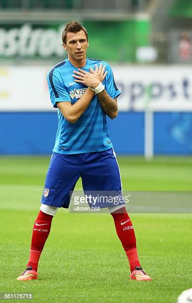 Mario Mandzukic, Einzelbild, Aktion , Atletico Madrid, Testspiel Freundschaftsspiel, Spanien Primera DivisionL, Sport, Fußball Fussball, Volkswagen...