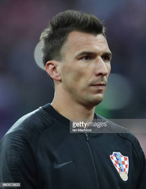 Mario Mandzukic of Croatia is seen during the 2018 FIFA World Cup Russia group D match between Argentina and Croatia at Nizhny Novgorod Stadium on...