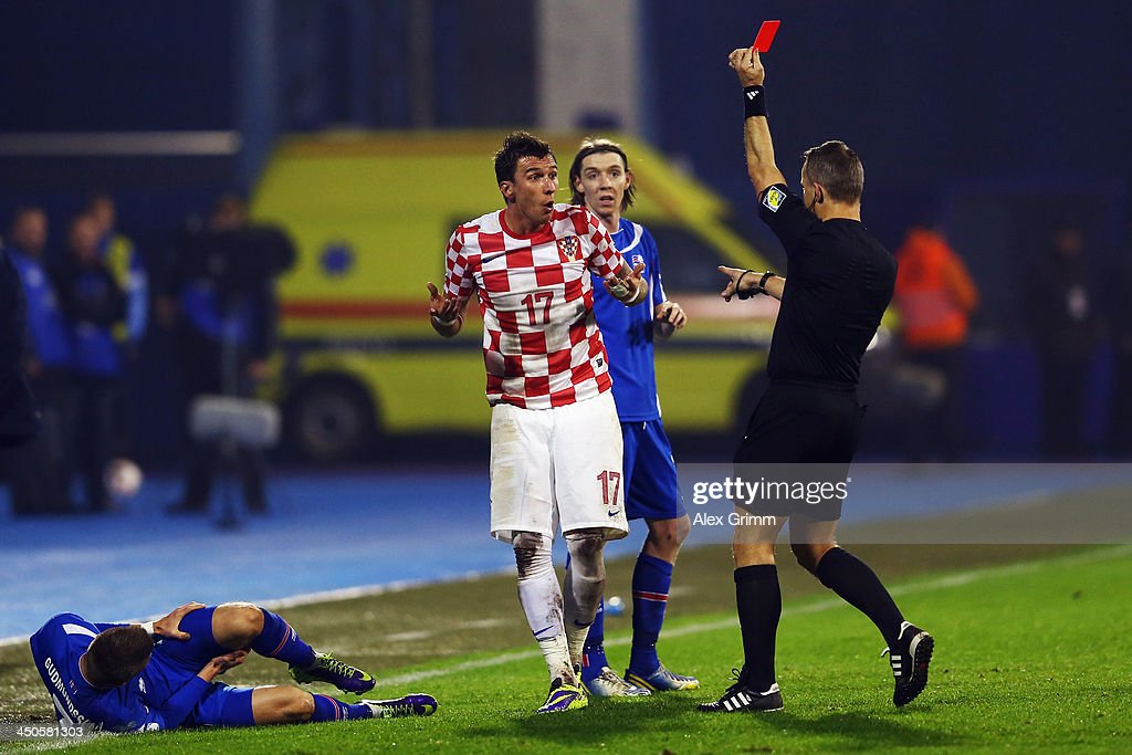 Croatia v Iceland - FIFA 2014 World Cup Qualifier: Play-off Second Leg : News Photo