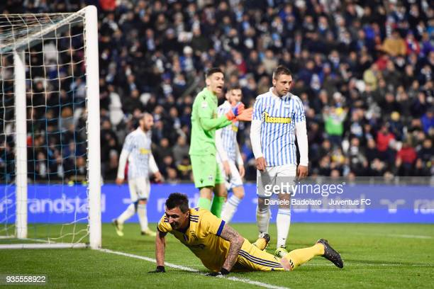 Mario Mandzukic of Juventus during the serie A match between Spal and Juventus at Stadio Paolo Mazza on March 17 2018 in Ferrara Italy