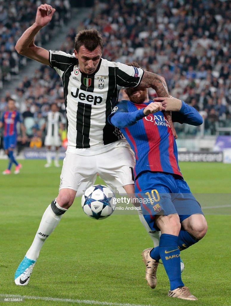 Juventus v FC Barcelona - UEFA Champions League Quarter Final: First Leg : Foto di attualità